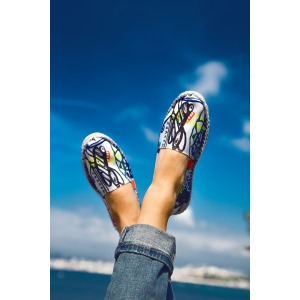 Espadrilles in Printed Canvas made in France DONA