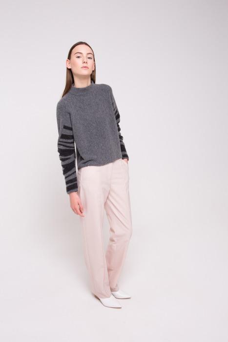 Pantalon de tailleur en laine vierge OURSI beige sable