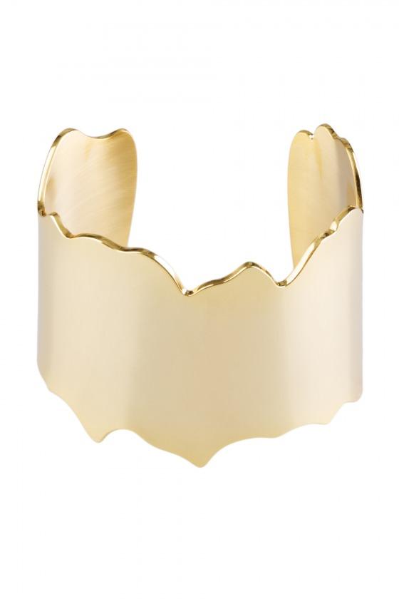 ZEUS - Bracelet manchette en métal doré