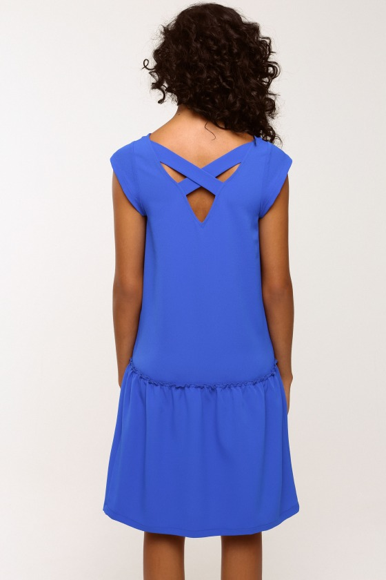 LOLITA low-cut dress in electric blue