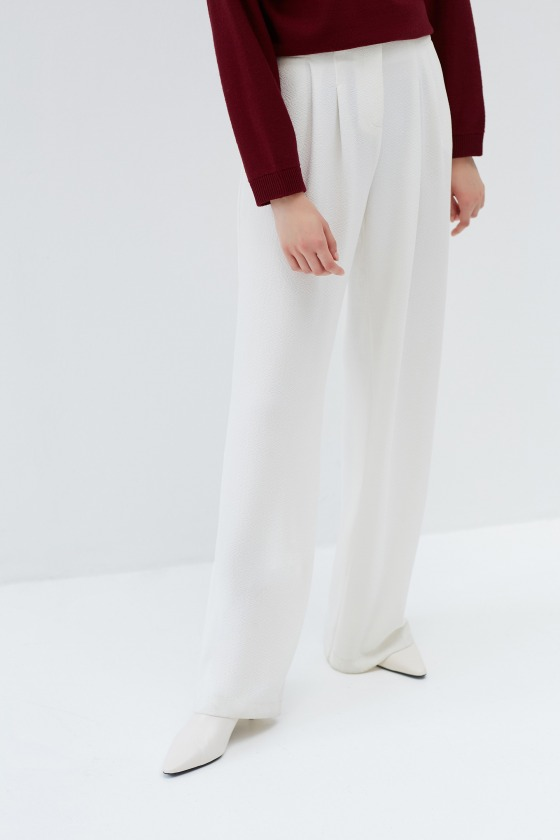 COLLEY blanc - Pantalon taille haute