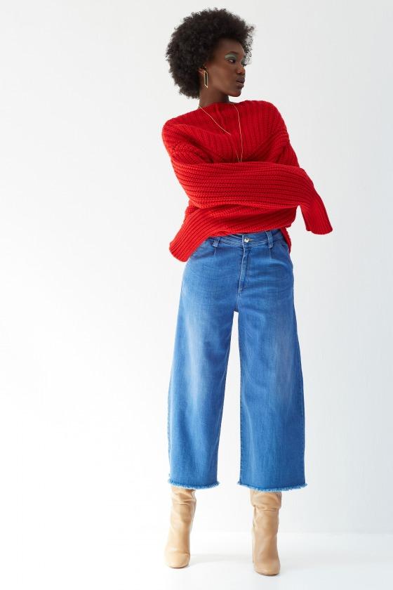 FINCHER clair - Jeans évasé taille haute