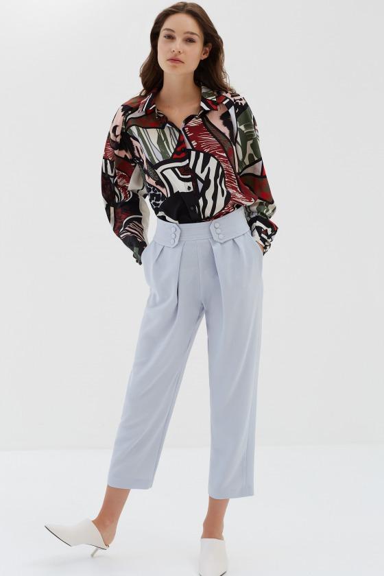 LEZARD gris - Pantalon taille marquée