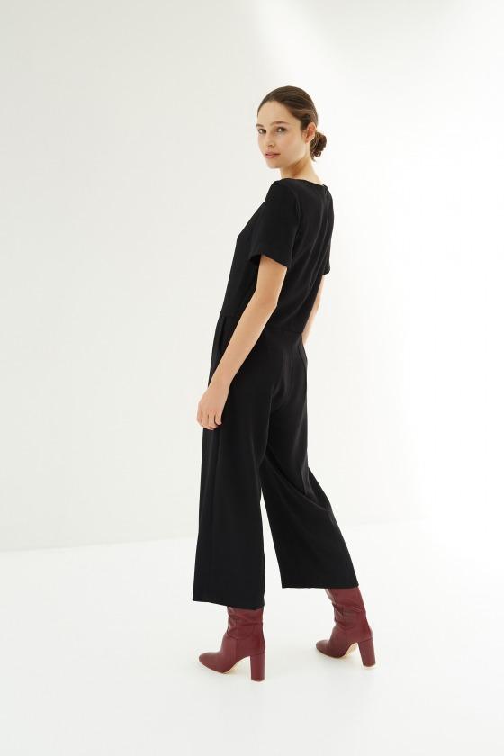 LICORNE noir - Combi-pantalon manches courtes