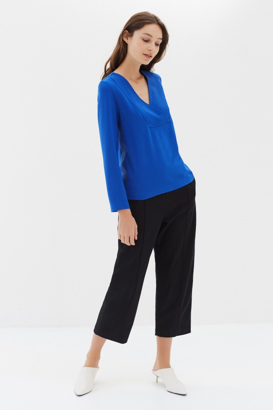 VERNEUIL noir - Pantalon en laine
