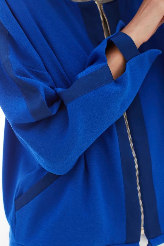 LAURI bleu électrique - Veste courte col rond