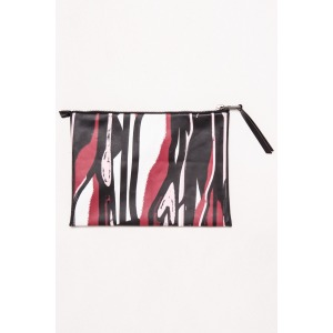 ECHO red - Printed clutch