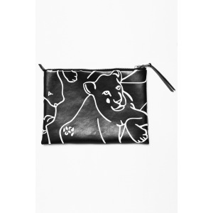 EVEN - embossed print clutch