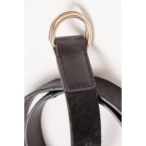 INDY black - Leather belt