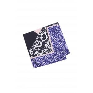 JOYCE bleu - Carré en soie imprimée 90X90