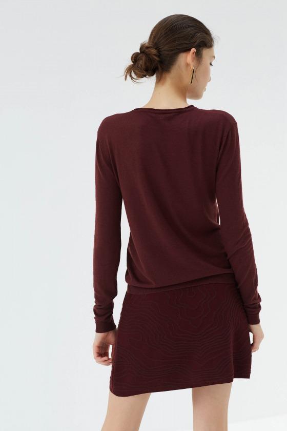 ZURLINI red - Jacquard knit skirt
