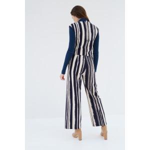 DONIS bleu - Combi-pantalon imprimée