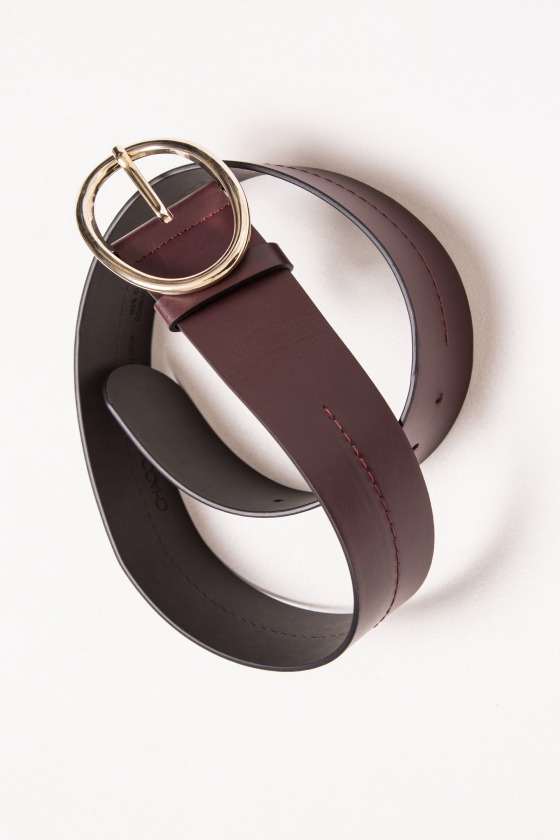 IDAHO bordeaux - Leather belt
