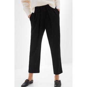 LEZARD noir - Pantalon taille marquée