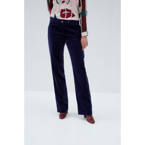 MAMBA bleu - Pantalon large en velours