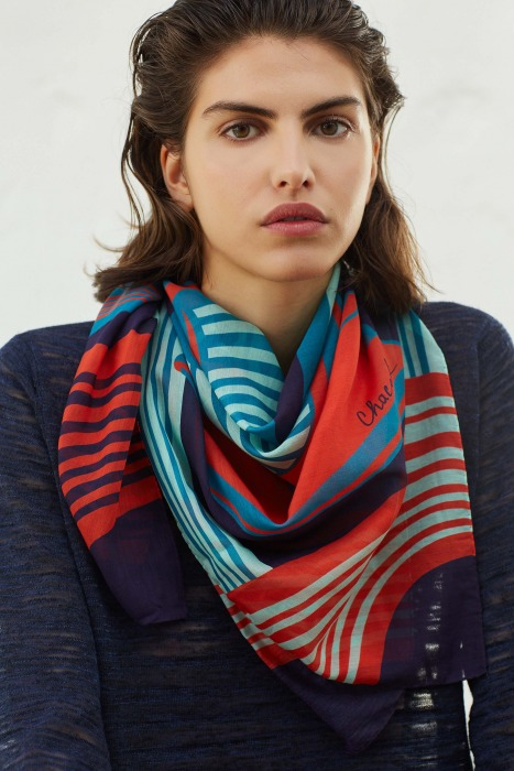 EQUINOX - cotton and silk scarf