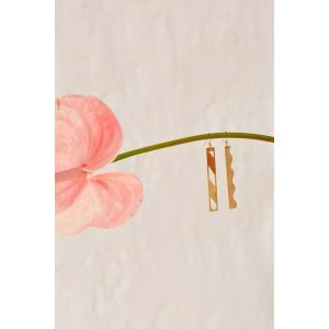 VOLGA - Boucles d'oreille pendantes en métal doré