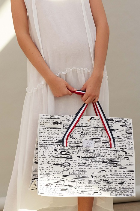 DICKIE - Shopping bag in cotton printed canvas