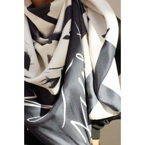 GARDENIA - printed silk square scarf