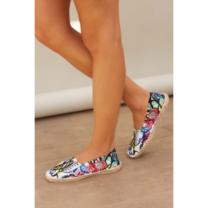 DONA - Espadrilles in printed canvas