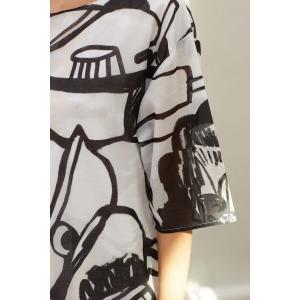 ELSY noir - Robe en voile de coton
