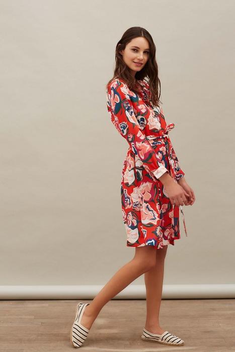 DAPPER rouge - Robe chemise imprimée