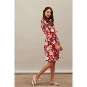DAPPER red - printed shirt dress