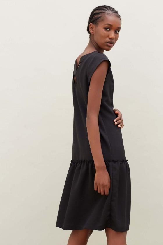LOLITA noir - Robe avec décolleté dans le dos