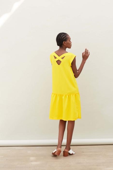 LOLITA yellow -  low-cut dress