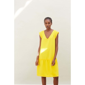 LOLITA yellow -  low-cut dress