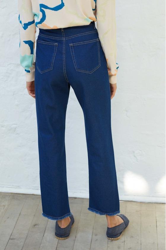 ELFE - Jeans 7/8 taille haute