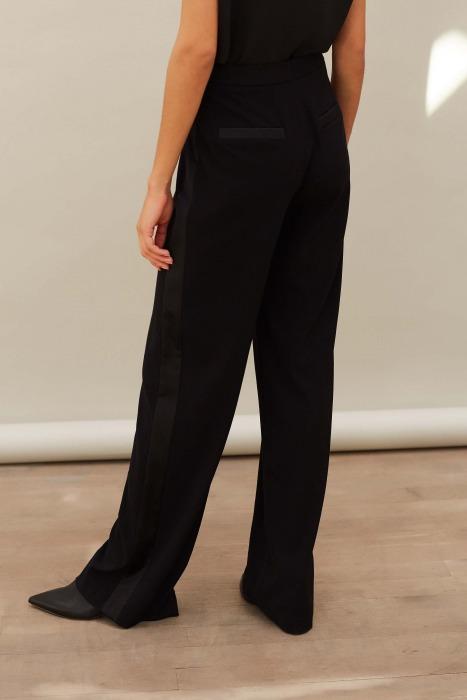 HORIZON black - Tuxedo trousers
