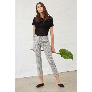 JAM - Pantalon en coton rayé