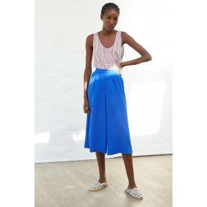LARY bleu - Pantalon façon jupe culotte