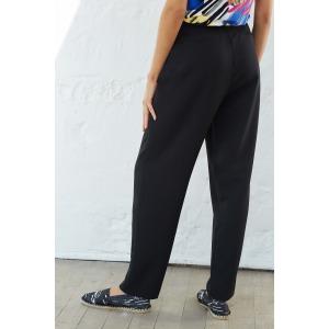LOOPS noir - Pantalon fluide taille haute