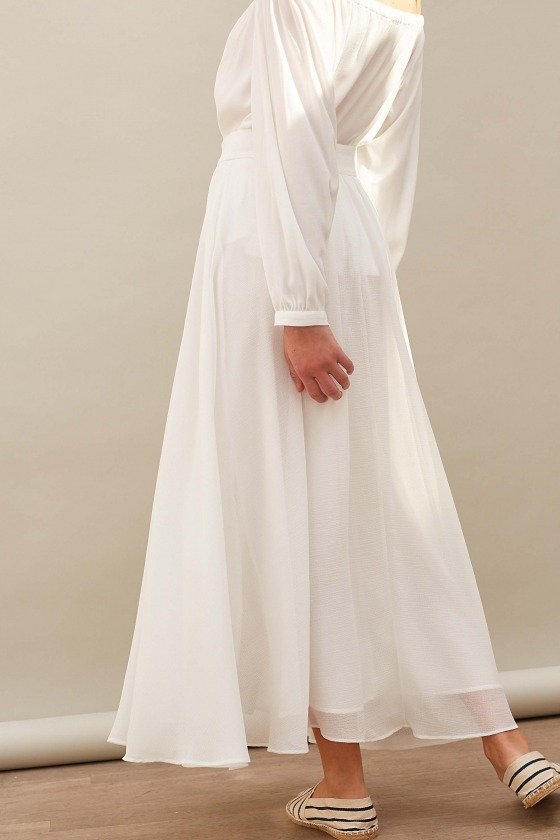HOPE white - Long skirt