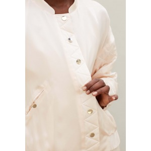 KERIAN - Silk bomber style jacket