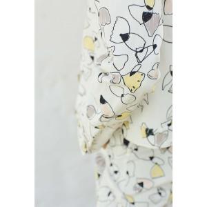 LENER jaune - Veste en coton imprimée
