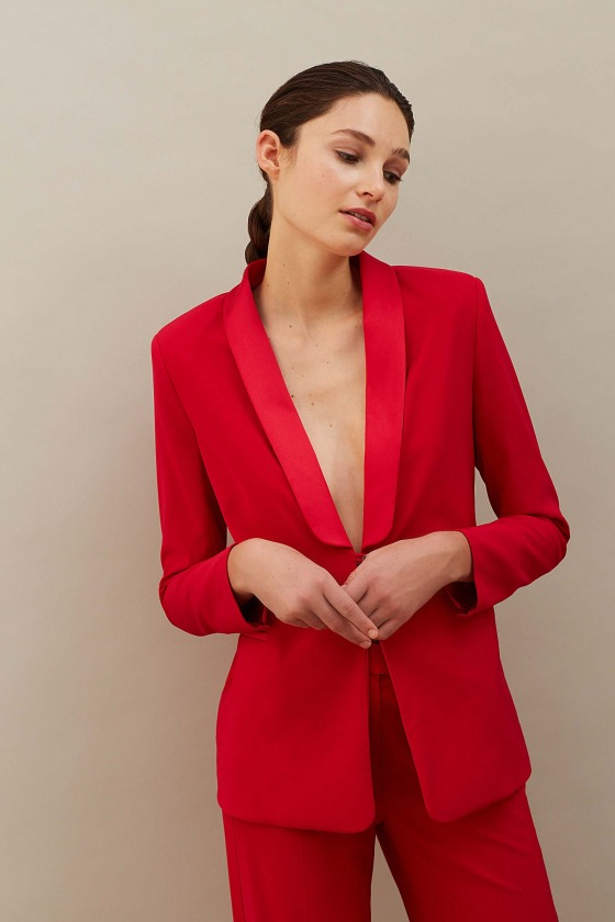 HARMONIE rouge - Veste de smoking