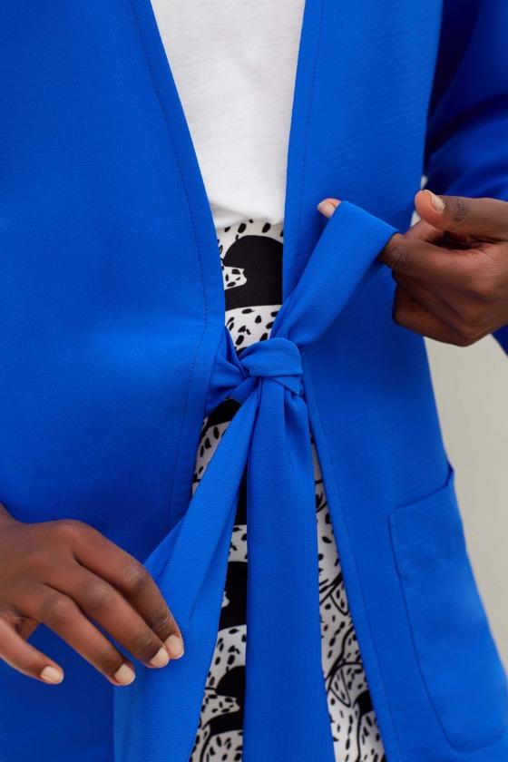 LEO bleu - Veste taille nouée