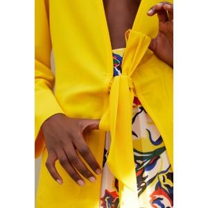 LEO jaune - Veste taille nouée