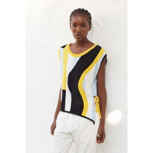 BAYA - intarsia sleeveless sweater