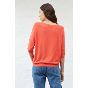 LIO rouge - Pull col rond